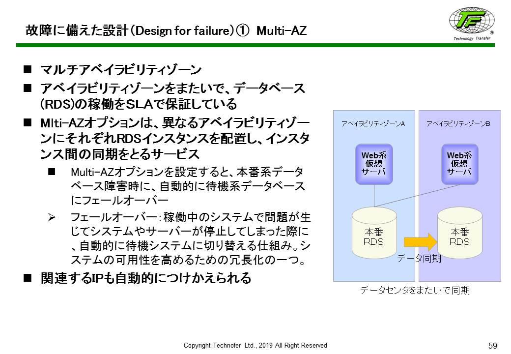 故障に備えた設計(Design for failure)① Multi-AZ:「ISMSクラウドセキュリティ」入門コースより